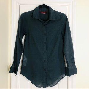 Comptoir Des Cotonniers   Button Down Shirt Sz 34